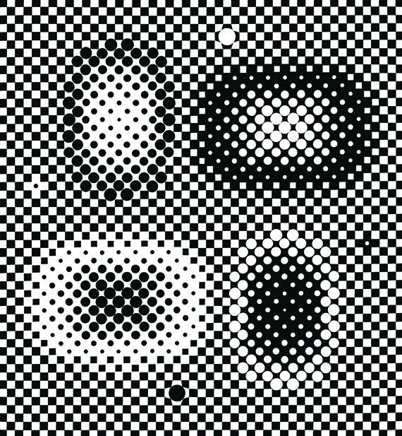 """Victor Vasarely, """"Métagalaxie"""", 1959-1961. Peinture sur toile. 160 x 147 cm. Collection particulière avec l'amabilité de la galerie Pascal Lansberg, Paris. (ADAGP, PARIS 2013)"""