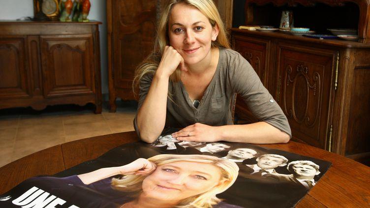 Anne-Sophie Leclere, ex-candidate du Front national aux élections municipales à Rethel (Ardennes), le 26 septembre 2013. (MAXPPP)