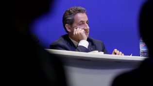 Le président de l'UMP, Nicolas Sarkozy, au conseil national de son parti, le 7 février 2015 à Paris. (MAXPPP)