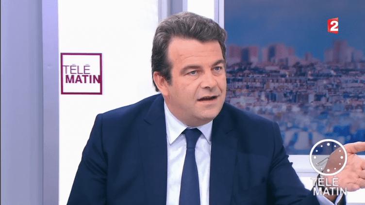 """Thierry Solère (Les Constructifs) invité des """"4 Vérités"""" sur France 2. (CAPTURE D'ÉCRAN FRANCE 2)"""