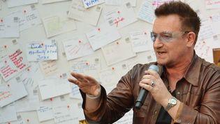 Bono discute de la pauvreté, à Washington en novembre 2012.  (Mandel Ngan / AFP)