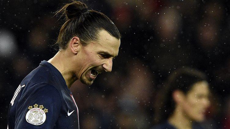 L'attaquant du PSG, Zlatan Ibrahimovic (FRANCK FIFE / AFP)