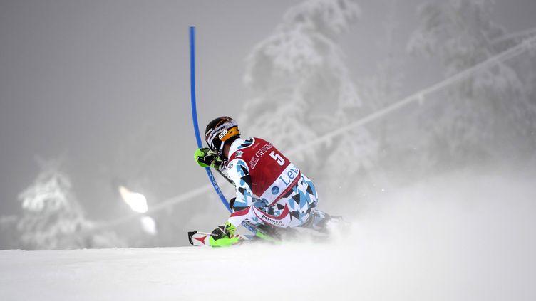 Marcel Hirscher toujours aussi impressionnant en Slalom (MARTTI KAINULAINEN / LEHTIKUVA)