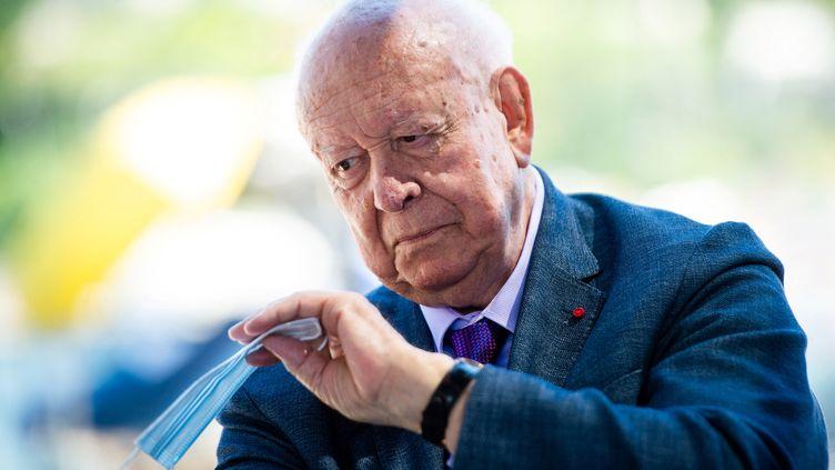 Jean-Claude Gaudin, l'ancien maire de Marseille, en juin 2020. (CLEMENT MAHOUDEAU / AFP)