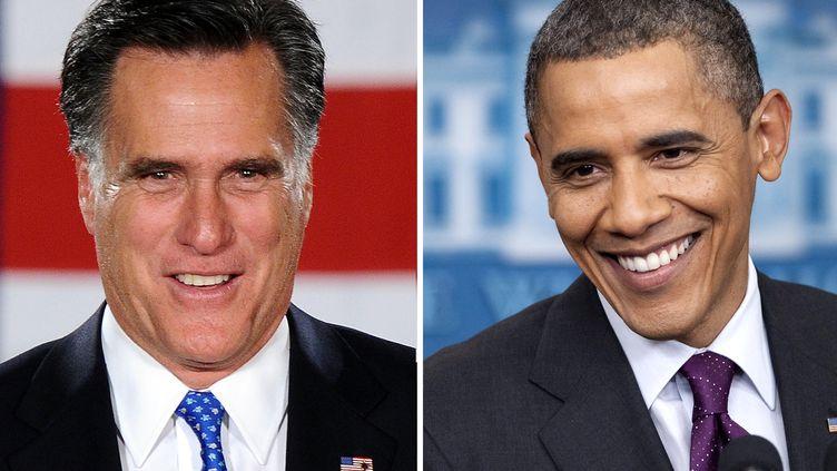 Les deux candidats à la présidentielle américaine, Mitt Romney et Barack Obama. (FILES / AFP)