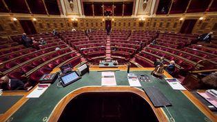 Les grands électeurs ont élus 171 sénateurs, dimanche, sur les 348 que compte la haute assemblée. (LIONEL BONAVENTURE / AFP)
