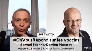 Les journalistes Samuel Etienne et Damien Mascret (DR)