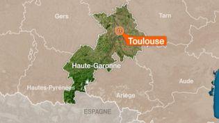 Illustration de France 3 Midi-Pyrénées pointant Toulouse où un jeune homme qui voulait se suicider, le 22 juin, a été sauvé par des policiers qui l'ont tasé. ( FRANCE 3)