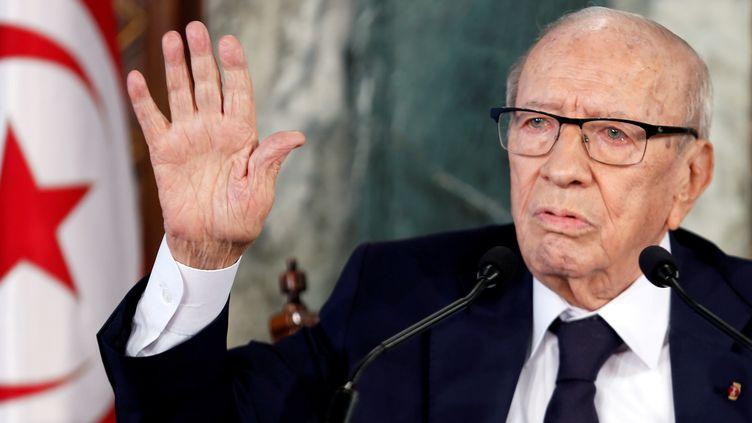 Le président tunisien, Béji Caïd Essebsi, le 8 novembre 2018 à Tunis (REUTERS - ZOUBEIR SOUISSI / X02856)