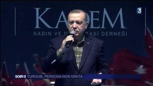 Le président turc Recep Tayyip Erdogan a vivement critiqué les Pays-Bas. (FRANCE 3)