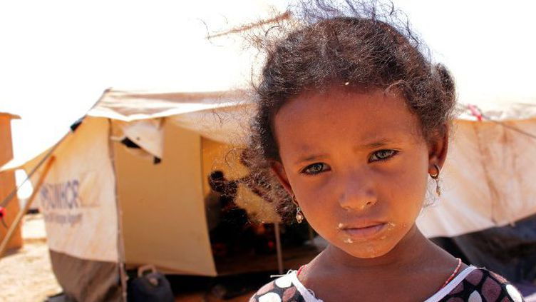 Une fillette yéménite dans un camp de réfugiés à Djibouti. (AFP /Anadolu Agency/ Kemal Firik)