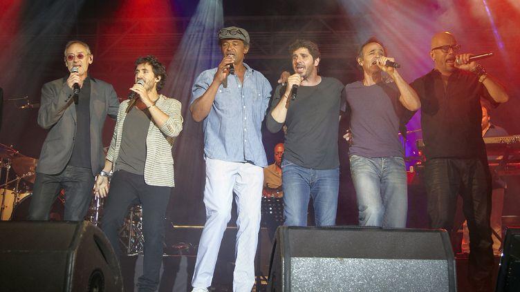 Un concert des Enfoirés à Ouveillan, dans l'Aude, le 20 juillet 2014. (GAILLARD NICOLAS / APERCU / SIPA)