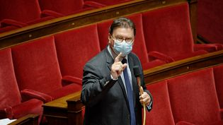 Philippe Gosselin, député Les Républicains (LR) de la première circonscription de la Manche, à l'Assemblée nationale le 10 mai 2021. (DANIEL PIER / NURPHOTO)