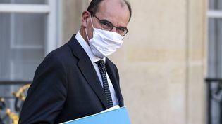 Le Premier ministre, Jean Castex, le 16 septembre 2020 à l'Elysée. (LUDOVIC MARIN / AFP)