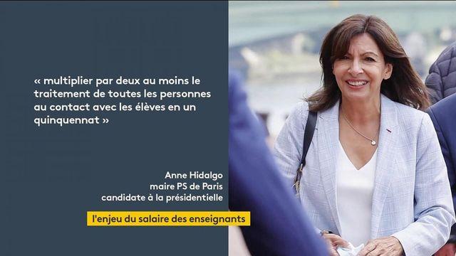 Présidentielle 2022 : les déclarations d'Anne Hidalgo sur le salaire des enseignants suscitent le débat