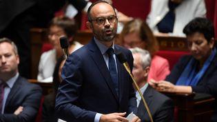 Le Premier ministre Edouard Philippe, mardi 3 octobre 2017 lors des questions au gouvernement de l'Assemblée nationale. (CHRISTOPHE ARCHAMBAULT / AFP)
