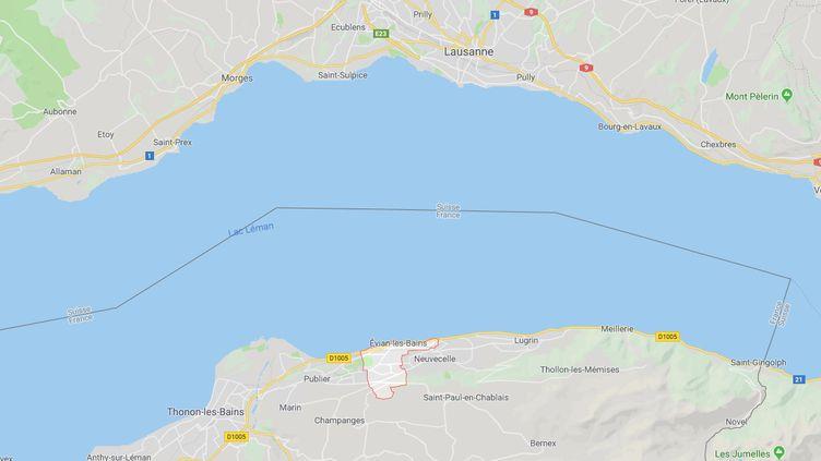 Le corps d'une femme née en 1985 a été retrouvé prèsd'Évian-les-Bains (Haute-Savoie),deux hommes ont été interpellés. (GOOGLE MAPS)