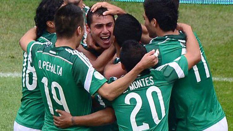 La joie des joueurs mexicains