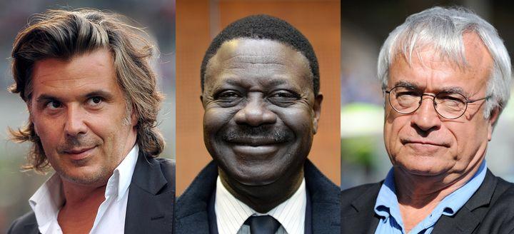 Les anciens présidents de l'OM Vincent Labrune, Pape Diouf et Jean-Claude Dassier. (ANNE-CHRISTINE POUJOULAT / AFP)