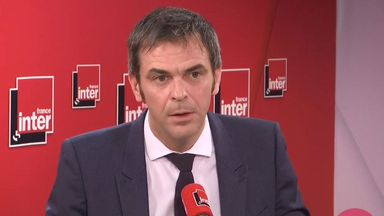 Olivier Véran, leministre des Solidarités et de la Santé, sur France Inter. (FRANCEINTER / RADIOFRANCE)