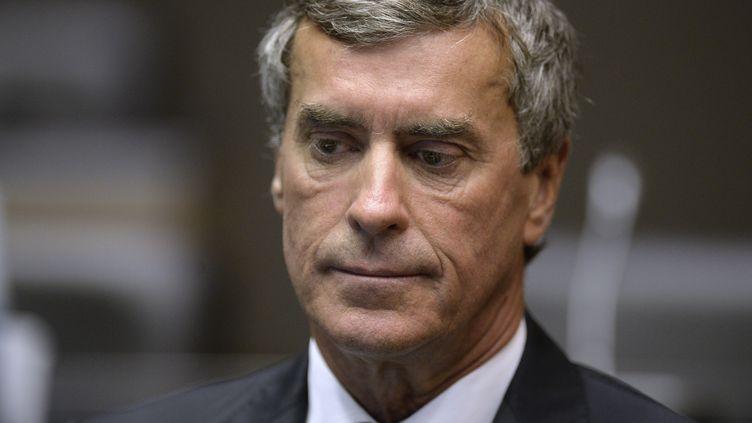 L'ancien ministre du Budget Jérôme Cahuzac lors de son audition par la commission parlementaire qui enquête sur le rôle du gouvernement dans l'affaire qui porte son nom, à l'Assemblée nationale, à Paris, le 23 juillet 2013. (MARTIN BUREAU / AFP)