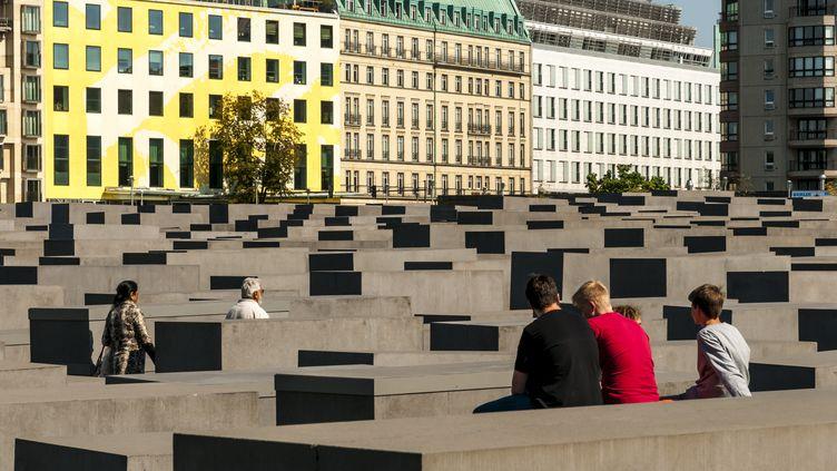Le site du mémorial de l'Holocauste à Berlin (Allemagne), le 6 septembre 2020. (J-F ROLLINGER / ONLY WORLD / AFP)
