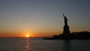 La statue de la Liberté, à New York, le 12 octobre 2016. (PASCAL DELOCHE / GODONG / AFP)