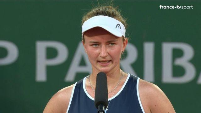 """1/2 finale : Barbora Krejcikova """"J'ai toujours rêvé de jouer un match comme celui-là"""