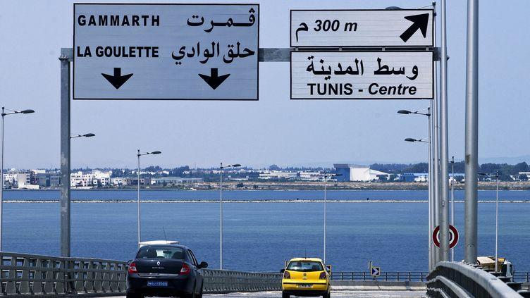 Vue du port de Tunis depuis le nouveau pont, en 2010. (GIUGLIO GIL / HEMIS.FR)
