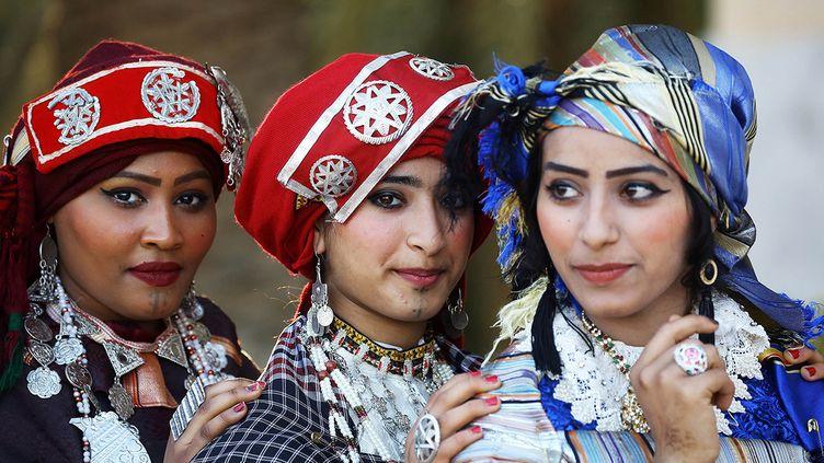 Le festival du costume traditionnel libyen (MAHMUD TURKIA / AFP)