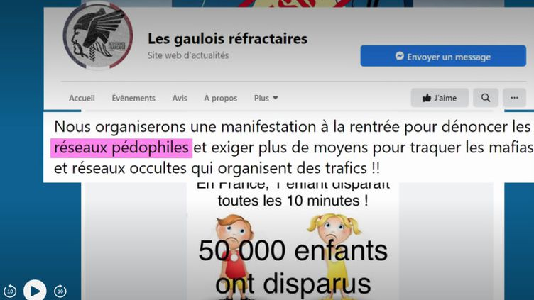 La publication Facebook très partagée qui assure que 50 000 enfants ont disparu en France en 2019 (FRANCEINFO)