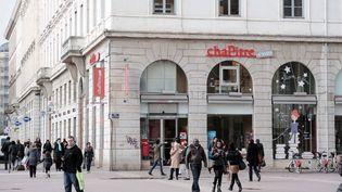 La librairie Chapitre au centre ville de Lyon  (PHOTOPQR/LE PROGRES/JOEL PHILIPPON )