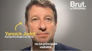 Tête du parti Europe Écologie Les Verts, le militant écologiste Yannick Jadot condamne l'influence des lobbies sur les élus politiques.  (BRUT)