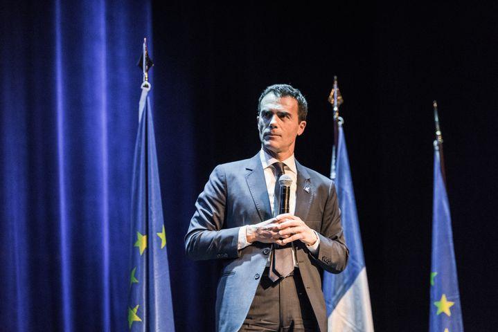 Sandro Gozi lors d'un meeting de la liste LREM à Paris, le 6 mai 2019. (KARINE PIERRE / HANS LUCAS / AFP)