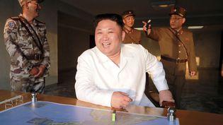 Photo non datée de Kim Jong-un, le dictateur nord-coréen, diffusée le 30 mai 2017 par l'agence officielle nord-coréenne. (KCNA VIA KNS / AFP)