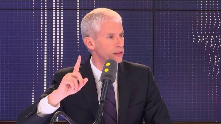 """Franck Riester, ministre de la Culture, invité du """"8h30 Fauvelle-Dély"""", mercredi 29 mai 2019. (FRANCEINFO / RADIOFRANCE)"""