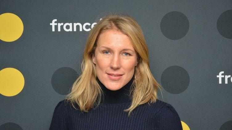 """Agathe Lecaron, animatrice de """"La maison des maternelles"""" sur France 5. (JEAN-CHRISTOPHE BOURDILLAT / RADIO FRANCE)"""