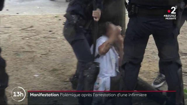 Hôpital : les images d'une infirmière arrêtée lors d'une manifestation font polémique