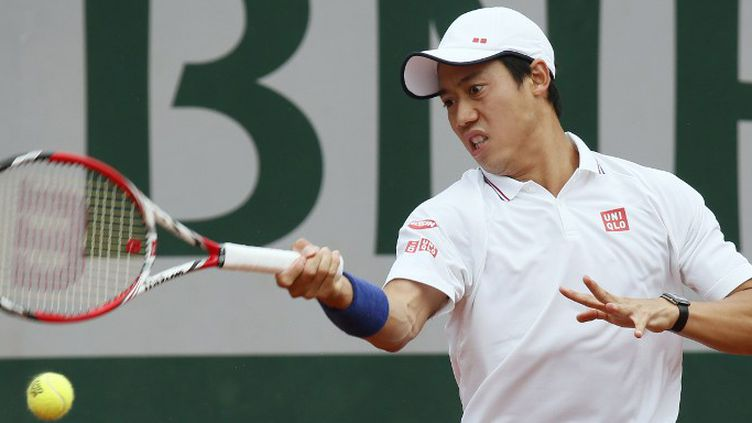 Kei Nishikori, premier outsider éliminé à Roland-Garros (PATRICK KOVARIK / AFP)