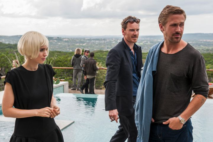 "Rooney Mara, Michael Fassbender et Ryan Gosling à l'affiche de ""Song to Song"" de Terrence Malick.  (Broad Green Pictures)"