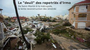 Des immeubles endommagés à Marigot (Saint-Martin) après le passage de l'ouragan Irma, le 6 septembre 2017. (LIONEL CHAMOISEAU / AFP)