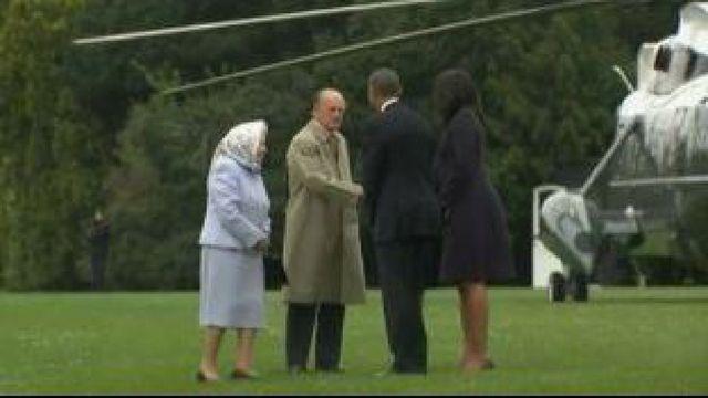 Michelle et Barack Obama reçus par le reine Elizabeth au château de Windsor