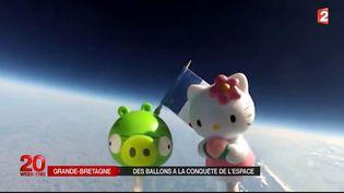 Des figurines envoyées dans l'espace à l'aide d'un ballon spatial. ( FRANCE 2)