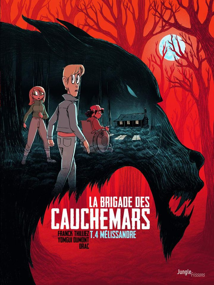 """Coiuverture""""La brigade des cauchemars – Mélissandre"""" (tome 4), de Franck Thilliez (scénario) et Yomgui Dumont (dessins) (EDITIONS JUNGLE / FRISSONS)"""