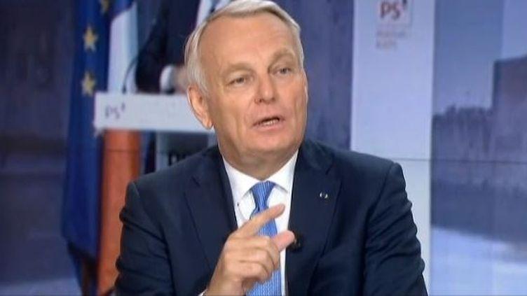 capture d'écran - Le Premier ministre Jean-Marc Ayrault invité du JT de France 2 - le 25 aout 2013 ( FRANCE 2 / FRANCETV INFO)