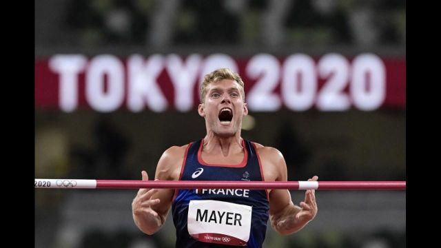 Revivez l'intégralité du concours de Kevin Mayer au saut en hauteur du décathlon.