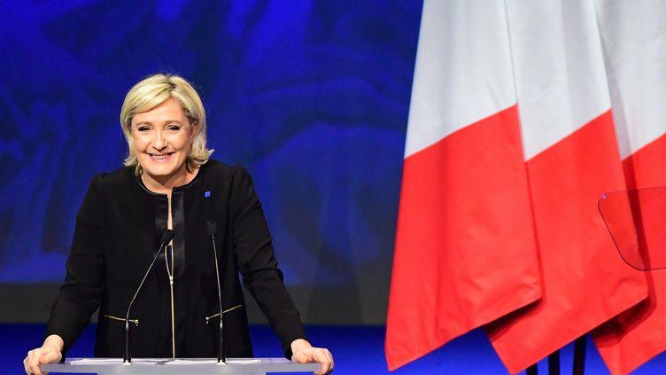 Marine Le Pen lors de son meeting à Lyon, le dimanche 5 février 2017. (?FRANCK CASTEL/WOSTOK PRESS / MAXPPP)