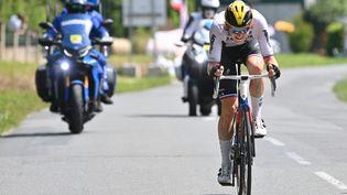Matej Mohoric (Bahrain Victorious) sur la 19e étape du Tour de France 2021. (DAVID STOCKMAN / BELGA MAG)