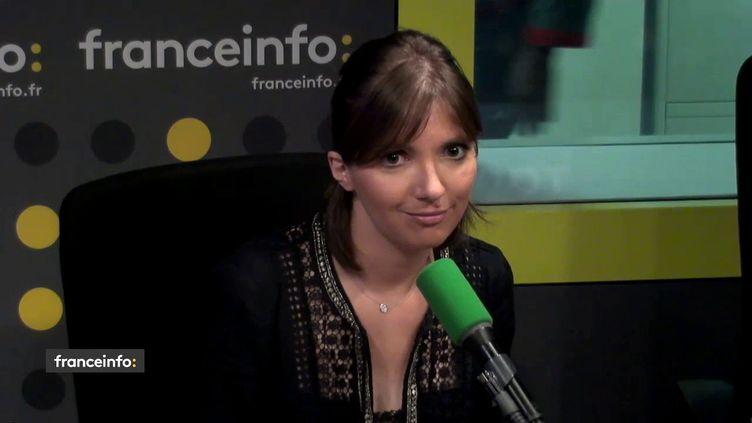 La députée LREM Aurore Bergé sur franceinfo, le 4 juin 2018. (FRANCEINFO / RADIOFRANCE)