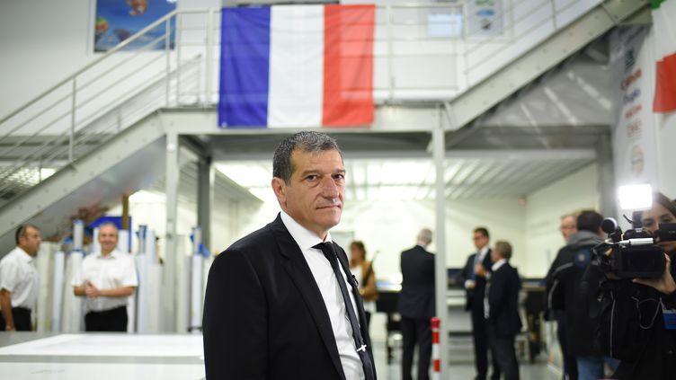 Michel Catalano dans son imprimerie deDammartin-en-Goële (Seine-et-Marne), le 29 septembre 2016. (STEPHANE DE SAKUTIN / AFP)
